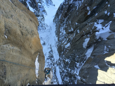 The couloir is still a long way away