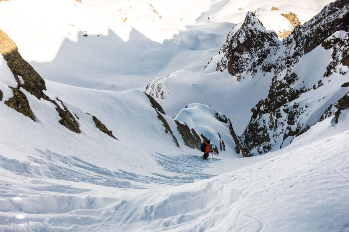 aiguille encrenaz north east couloir seth adams