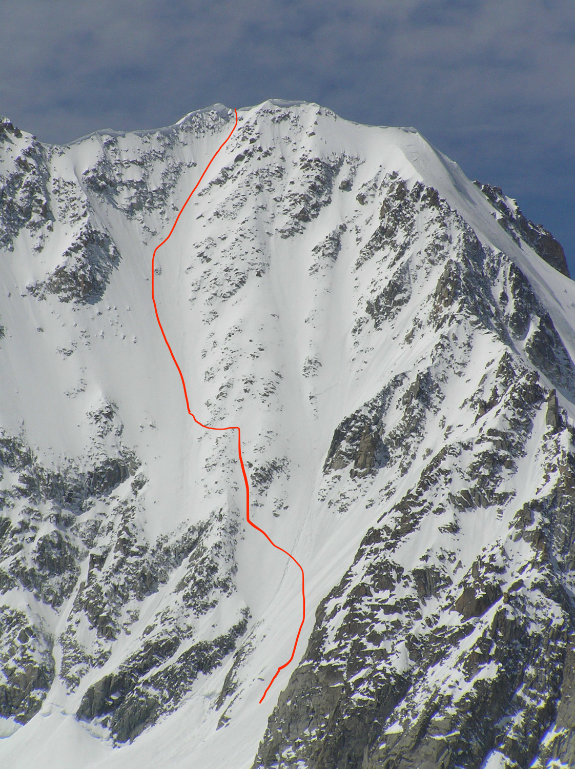 couloir barbey left branch