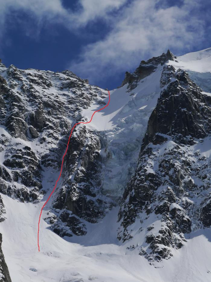 Col du Plan North Face. Photo Ben Briggs